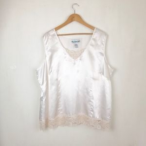 Denim 24/7 white blouse slip top size:24W summer